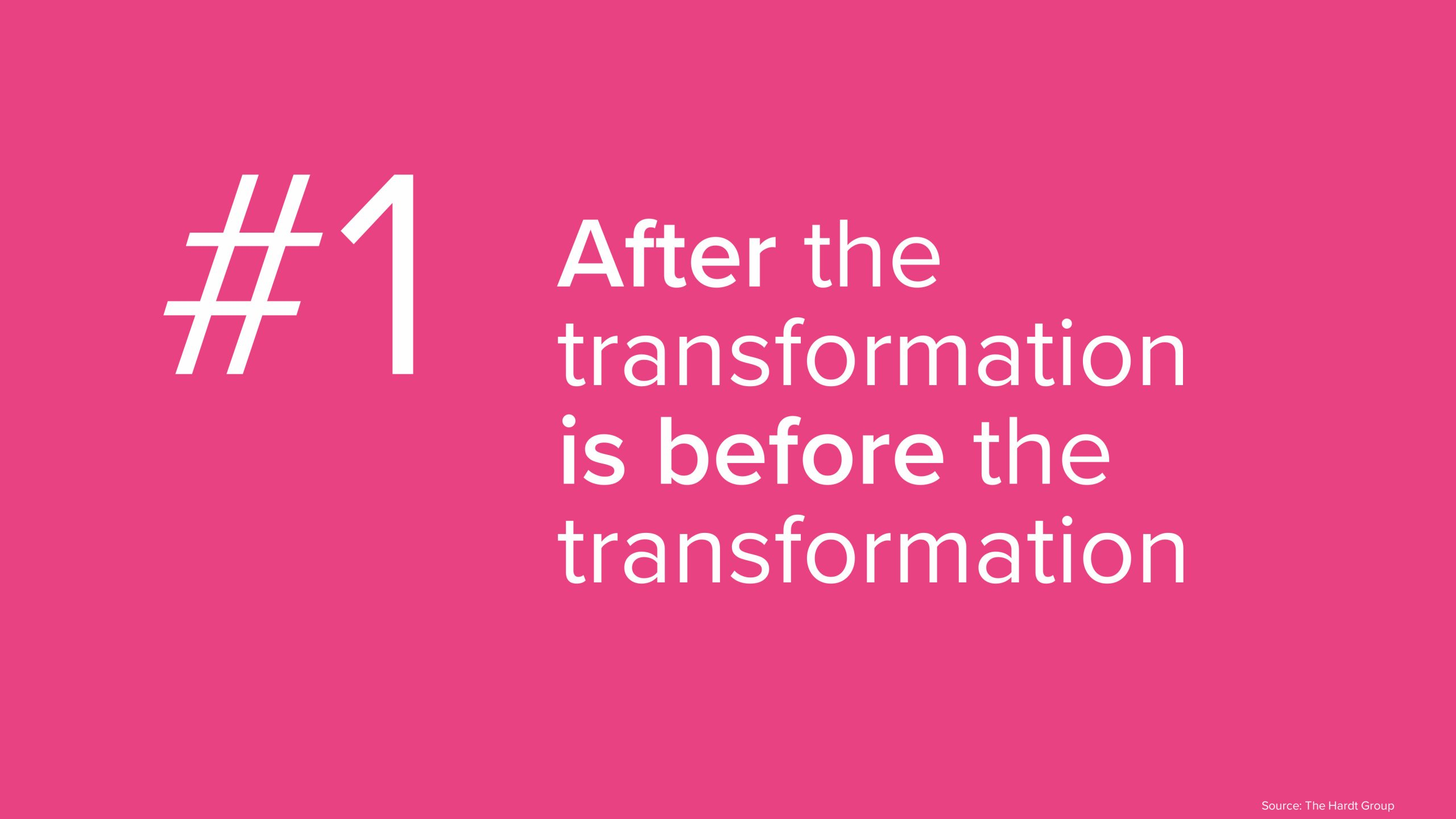 #1 Nach der Transformation ist vor der Transformation